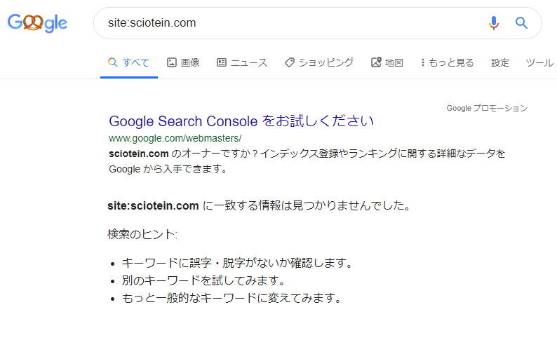 site:検索結果
